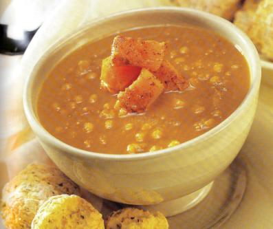 Sopa Calabaza y Guisantes